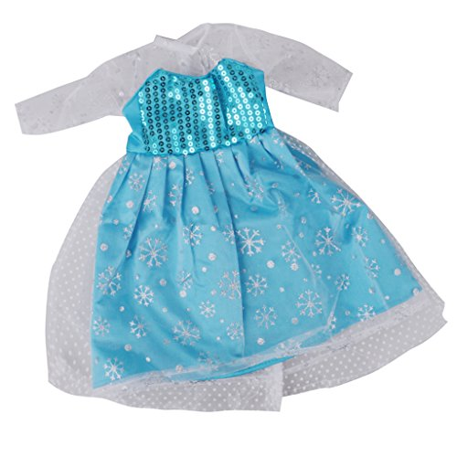Sharplace Puppen Prinzessin Puppenkleid Kleidung Outfit für 18 '' American Girl Puppe