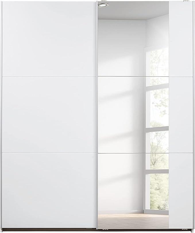 Weiße Kleiderschränke mit Schwebetüren