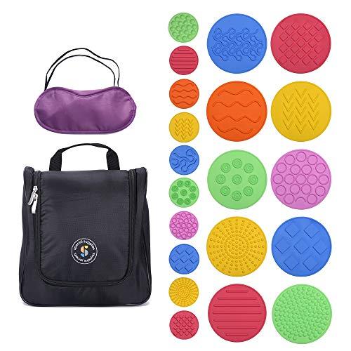 Special Supplies Discos sensoriales de juego a juego, paquete de 10, estimulación táctil para niños, soporta desafíos autistas y de...