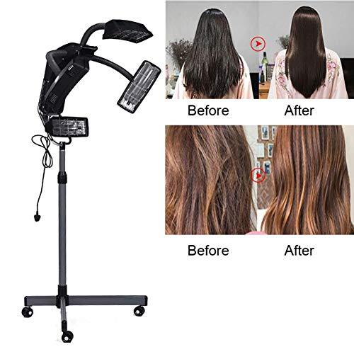 LAW 950W Sèche-Cheveux Professionnel Casque Vapeur sur Pied avec Roues Minuterie Hauteur Réglable pour Cheveux Traitement Coiffeur Spa