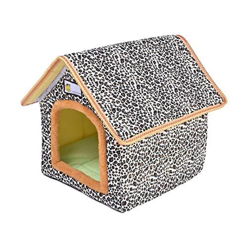 Wood.L Katzenhaus Für Draußen Winterfest, Outdoor Katzenhöhle Für Katzen, Pet Outdoor House Wasserdichtes Wetterfestes Katzenhaus Faltbares Tierheim Für Haustiere