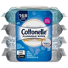 Cottonelle FreshCare Flushable Cleansing Cloths nXPnF 2 Individual bags containing 168 wipes per bag