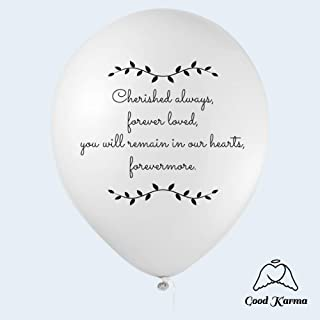 30 Biodegradable White Remembrance Balloons | Balloon Release Balloons | Helium Quality |