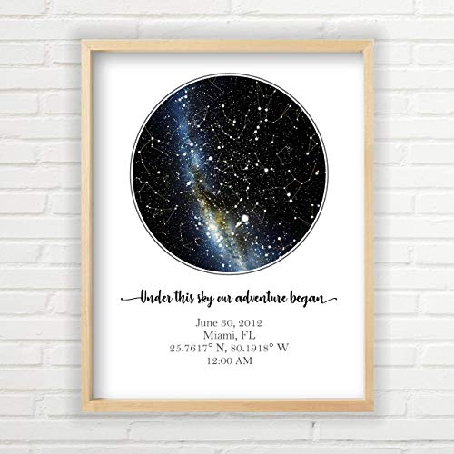 Personalized Star Map - Custom Star Map (Unframed, Multiple Sizes, Star Print, Star Constellation...