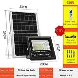 ZSPSHOP Luz Solar Fotovoltaica De Tipo Dividido Negro Automático Brillante 30W ~ 200W Hogar De Alta Potencia Patio Exterior Interior,50W