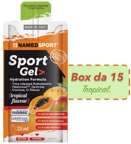 Named Sport Gel box da 15x25ml gusto Tropical