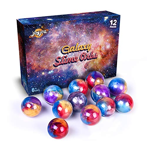 Joyjoz Slime Galaxy Schleim, 12 Packungen Golden Putty Slime Kit DIY Schleim Bälle, Partygeschenkset Stressabbau Lernspiel für Kinder und Erwachsene