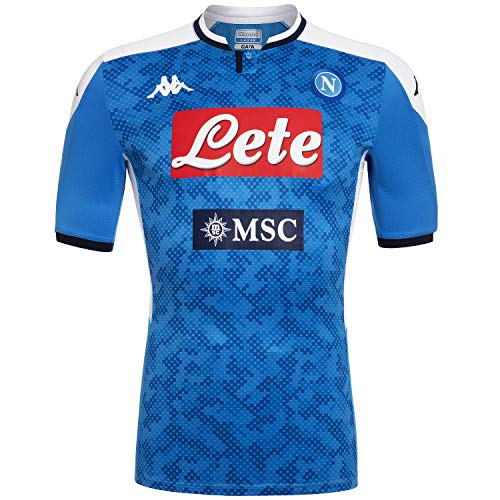 Ssc Napoli Italian Serie A Men's Home Match Shirt, SkyBlue, XL