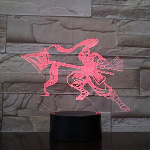 Cambio de color led decoración fresca juego de rol de héroe sensor táctil luz de noche LED iluminación indirecta luz de humor luz de noche