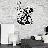 Effekt Wandtattoo- Deadpool Wandtattoo Superheld 57X76Cm/Aufkleber/Durchbruch/Selbstklebendes Wandbild/Wandsticker/Stein/Wanddurchbruch/Wandaufkleber/Tattoo