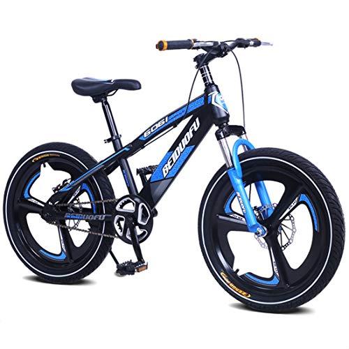 MXSXN Bicicleta De Aluminio para Niños, Frenos De Disco Dobles, Suspensión Delantera, Llantas De Aleación De Magnesio, Velocidad Única, 16', 18', 20', Bicicleta para Niños Y Niñas De 5 A 14 Años,20'