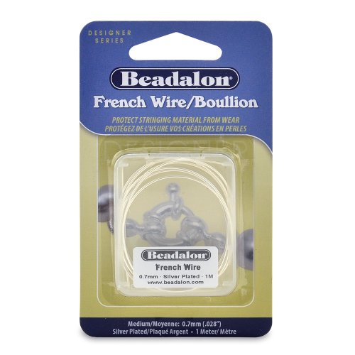 Beadalon French Wire 0.7mm Silver Plated, 1-Meter