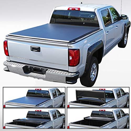 Autozensation For Toyota Tundra SR5 LTD CrewMax TriFold Tonneau Cover 5.5ft Short Bed