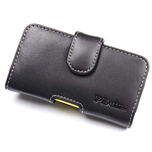 PDair Handarbeit Leder Hülle - Leather Horizontal Pouch Case with Belt Clip for Nokia Asha 210