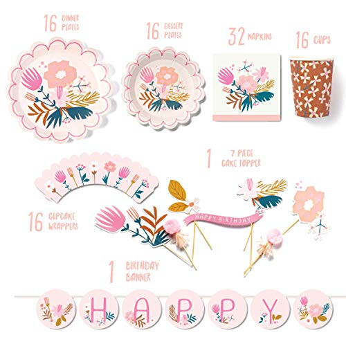 Lucy Darling Pink Party Supplies Garden Party Birthday Party Decorations in a Box