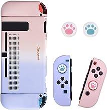 Capa para Nintendo Switch com 2 unidades de aperto de polegar, capa rígida Punho ergonômico em TPU e capa protetora ABS co...