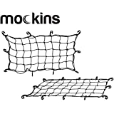 Mockins Black Heavy Duty 20.8' X 36.8' Bungee Cargo Net Stretches to 45' X 75' The Cargo Carrier Net Comes with 10 Hooks and can be Used with Any Car or Van SUV and Truck