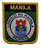 1000 Flags Bestickter Aufnäher mit Manila-Philippinen-Schild.