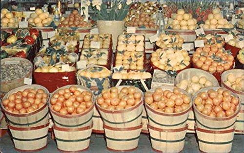 A Shipper's Display of Tropical Fruit Seen Throughout Florida Original Vintage Postcard