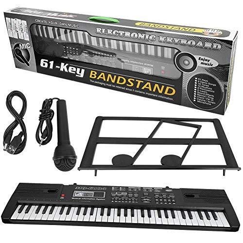 Teclado electrónico, Estándar 61 Teclas Digitaces Instrumento Musical Teclado Portátil de Piano...