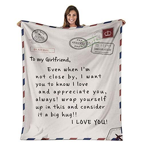 Corlidea Manta de forro polar con texto en inglés 'My Daughter', para papá y mamá para el correo aéreo de la hija, manta de franela para regalo