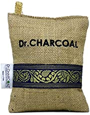 Dr. CHARCOAL Non-Electric Air Purifier, Deodorizer and Dehumidifier for Car, Bathroom and Kitchen - 200 Grams (Classic Khaki)