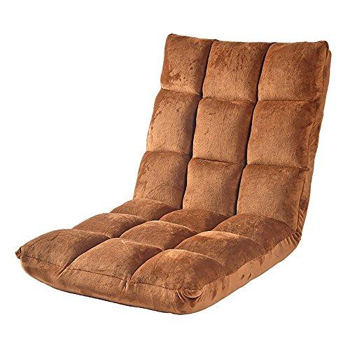 L-R-S-F Canapé Paresseux Simple Chambre Balcon Chaise Canapé Au Sol (Couleur : Sombre Couleur Café)