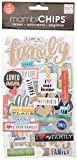 me & my BIG ideas mambiChips Chipboard Stickers - Scrapbooking Supplies - I Love Us Family Theme - Metallic Glitter & Multi-Color - Great for Family Projects, Scrapbooks & Albums - 4 Sheets