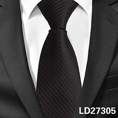 DYDONGWL Krawatten Herren,Holz Fliege,8cm Breite vorgebundene Krawatte Mens Classic Zipper Krawatten für Männer Jacquard Bräutigam Party Krawatte Cravate schwarz grau Anzug Krawatten