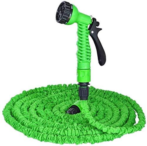 DXYAN GreenGarden Gartenschlauch, erweiterbar, 3-fach erweiterbar, flexibel, magischer Schlauch mit 7 Funktionen, Sprüh-/Messinganschluss, für Autowäsche, 15 m nach 50 ft Einspritzung