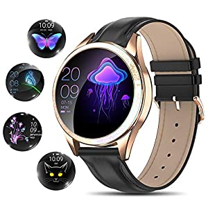 Fashion Shopping YOCUBY Smart Watch for Women,Bluetooth Fitness Tracker Compatible with iPhone,Android Phone, Female Sport Smartwatch…