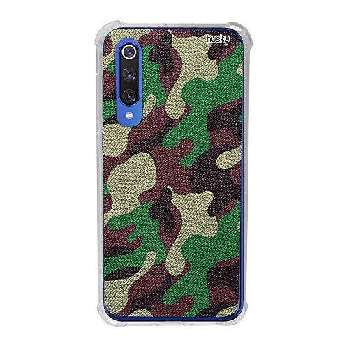 Capa Anti-Impacto Personalizada para - Xiaomi Mi 9 SE - Camuflada Militar, Husky, Capa Protetora para Celular, Colorido