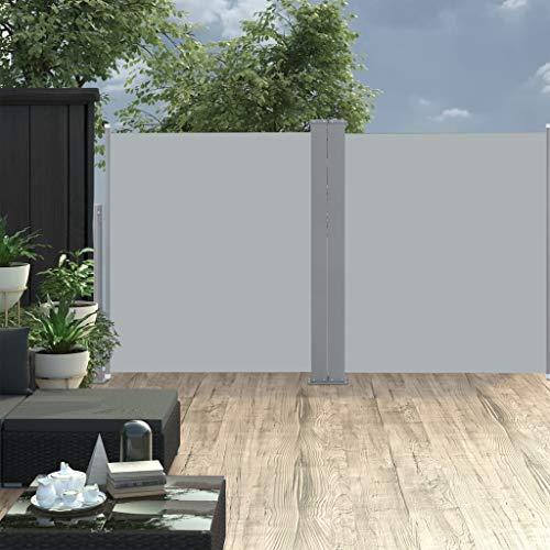 FAMIROSA Ausziehbare Seitenmarkise Doppelt 170 x 600 cm Anthrazit