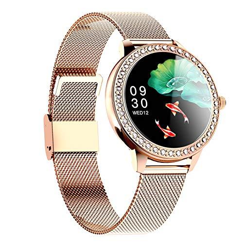 HQPCAHL Smart Watch, Reloj Inteligente con Oxígeno Sanguíneo Presión Arterial Frecuencia Cardíaca, Pulsera Actividad Impermeable IP68 para Hombre Mujer para Android iOS,Oro