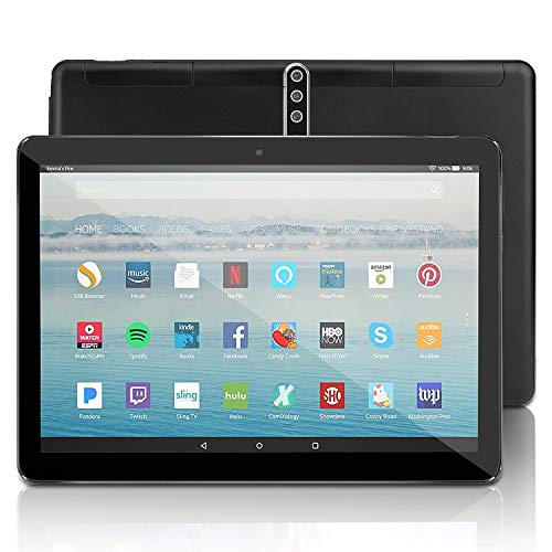 Android Tablet 10 Zoll mit SIM-Karte Slots - 5G Wi-Fi 4GB RAM 64GB ROM Octa Core , Android 9.0,3G entsperrt GSM Phone Tablet PC mit WiFi Bluetooth GPS Netflix YouTube, 5000 mah Akku , U1