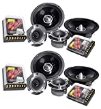 "Best Car Audio Component Speakers - 2 Pairs Rockville X6.5C Competition 6.5"" 1000 Watt Review"