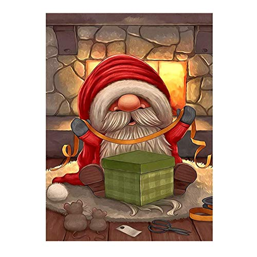 Kimily DIY Paint by Numbers for Adults Kids Christmas Gnomes Paint by Numbers Diy Painting Santa Gnome Acrylic Paint by Numbers Painting Kit Home Wall Living Room Bedroom Decor Gnome Tomte Santa Claus