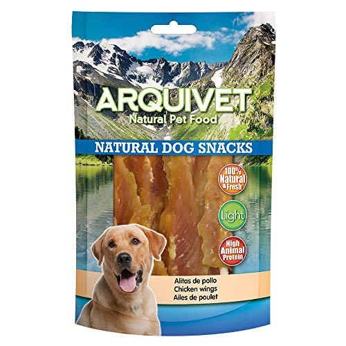 Arquivet Natural Dog Snacks -Snacks Perros - Alas de Pollo con Calcio - 100 gr