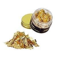 VGSEBA 金箔フレーク 純金 食用可 24K DIY 金メッキ 手芸 装飾 3*3.5cm