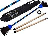 Flames N Games - Palos de goma con mango de silicona de 2 mm y bolsa de viaje, color azul Flames N Games Devilsticks para principiantes y profesionales.