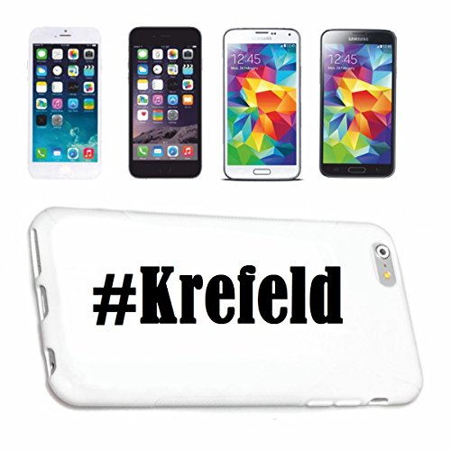 Reifen-Markt Handyhülle kompatibel für iPhone 5C Hashtag #Krefeld im Social Network Design Hardcase Schutzhülle Handy Cover Smart Cover