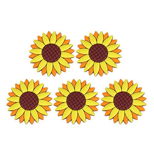 Cabilock 5 Piezas de Imanes de Nevera de Diseño de Girasol Pegatinas de PVC Pizarra Oficina Aviso Mensajes Imanes para Decoración del Hogar