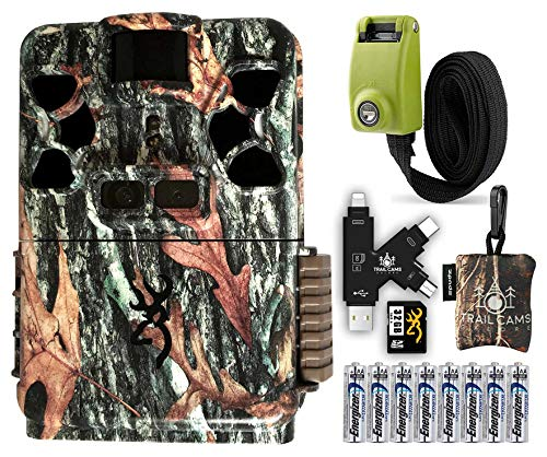Browning Patriot Camera with SD Card, Batteries, Card Reader, Reinforced Strap, and Spudz Microfiber Cloth Screen Cleaner