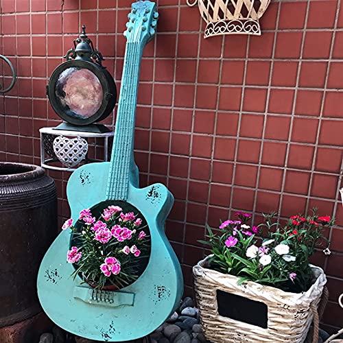 KOSHSH Garden Sculpture Guitar Art Flower Pot Outdoor Statue Garden Guitar Statue Lawn Ornaments for Home Office Desk Indoor Outdoor Decor Ornament Gardening Gifts