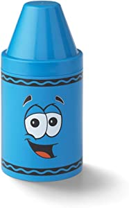 Crayola Storage Small Tip– Colorful Tip Character Storage Box, Creative Container For Kids Arts And Crafts Supplies, Stationeries, Small Toys And Keepsakes - Cerulean, Kids 3.5 Years And Up