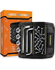 Magnetic Wristband Tools Gifts for Men, KUSONKEY Tool Belt with 15 Magnets for Holding Screws/Nails/Drill,Cool Gadgets Gifts for Men/Him/Father/Dad/DIY Handyman/Electrician/Husband/Boyfriend