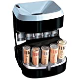 Motorized Coin Sorter - Battery Operated with Overflow for Residual...