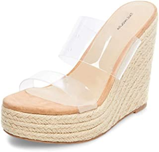 89cc74b2 Zapatillas Transparente Plataforma Cuña para Mujer,MWOOOK-873 Zapatos cuña  Casuales,Adecuados para