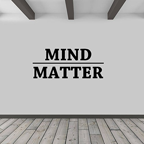 Mind Over Matter Vinyl Wall Decal Inspirational Quote