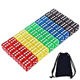 Dados de 5 colores translúcidos - 50 Piezas